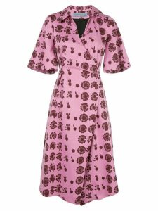 Jonathan Cohen Heloise wrap shirt dress - PINK