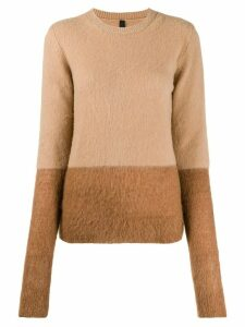 UNRAVEL PROJECT two tone knit jumper - NEUTRALS