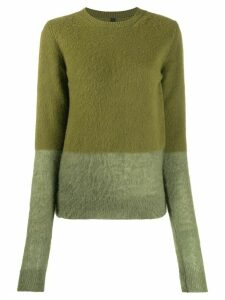 UNRAVEL PROJECT two tone knit jumper - Green