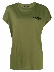 Balmain logo print T-shirt - Green