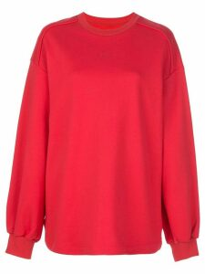 Juun.J oversized printed sweater - Red