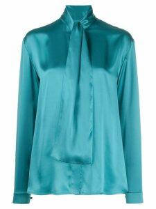 Balenciaga knot detail blouse - Blue