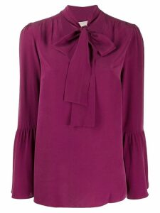 Michael Kors Collection tiered sleeve blouse - Purple