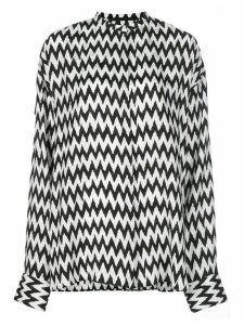 Haider Ackermann collarless chevron blouse - Black