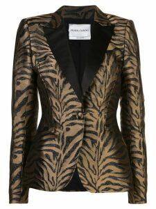 Prabal Gurung zebra pattern fitted blazer - GOLD