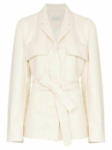 Low Classic tie-waist long-sleeve jacket - White