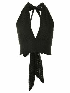 Olympiah Lamier lace cropped top - Black