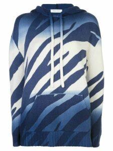 Prabal Gurung gradient knit hoodie - Blue