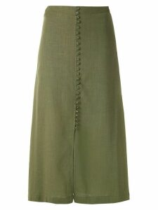 Olympiah Romania straight skirt - Green