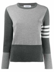 Thom Browne 4-Bar Fun Mix Milano Pullover - Grey
