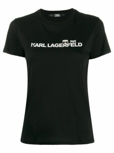 Karl Lagerfeld logo print slim-fit T-shirt - Black