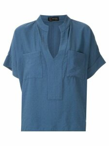 Olympiah Maggiolina chest pockets blouse - Blue
