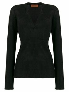 Missoni ribbed slim-fit jumper - Black