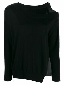 Dorothee Schumacher off-shoulder asymmetric sweater - Black