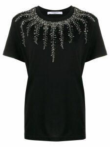 Givenchy embellished neck T-shirt - Black