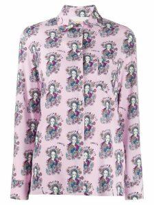 La Doublej Demeter print long sleeve shirt - PINK