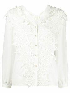 Jovonna Alta lace panel shirt - White