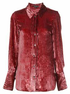 Ann Demeulemeester striped velvet shirt - PINK