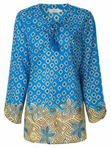Tory Burch geometric print tunic - Blue