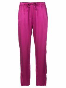 Raquel Allegra high rise straight leg trousers - PINK