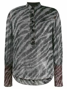 Rag & Bone zebra print blouse - Black