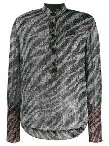 Rag & Bone zebra print blouse - Black