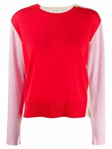 Dorothee Schumacher colour block knitted top - Red