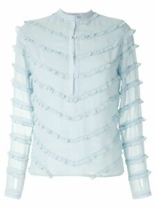 Olympiah Damasco ruffled blouse - Blue
