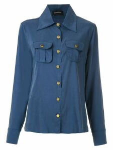Olympiah Tulipe pockets shirt - Blue