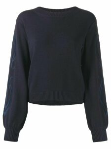 See By Chloé embroidered-sleeve sweater - Blue