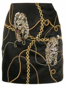 Giuseppe Di Morabito chain print mini skirt - Black