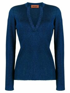 Missoni ribbed slim-fit jumper - Blue