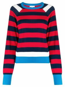 Equipment striped crew neck jumper - Red