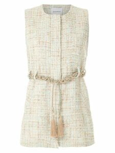 Olympiah knitted rope belted top - NEUTRALS