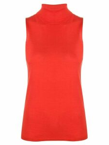 Dorothee Schumacher sleeveless roll neck top - ORANGE