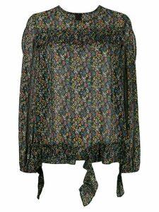 Jovonna Goyetta floral print blouse - Black