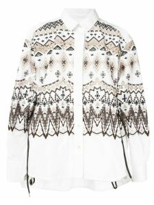 Sacai geometric patterned shirt - White