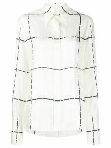 Victoria Beckham contrast stitch print shirt - NEUTRALS