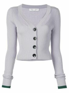 Proenza Schouler White Label Fine Gauge Rib Cropped Knit Cardigan -
