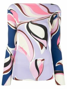 Emilio Pucci graphic print long sleeve top - PINK