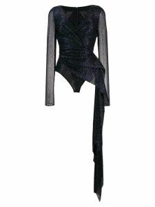 Talbot Runhof Babylone bodysuit - Blue