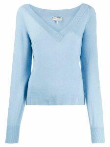 Emilio Pucci v-neck jumper - Blue