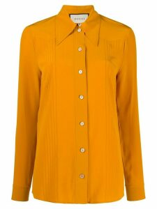 Gucci tuck detail collared shirt - Yellow