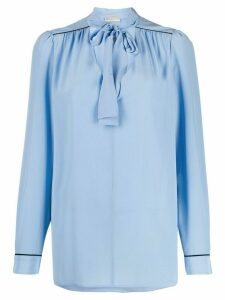 Emilio Pucci pussy bow blouse - Blue
