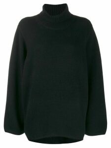 Totême turtle neck jumper - Black