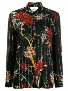 Ba & Sh Petunia floral shirt - Black