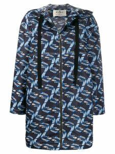 Marni Firebird print raincoat - Blue