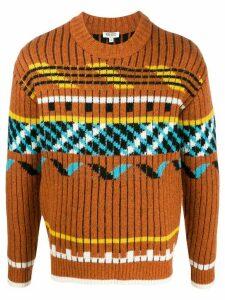 Kenzo Peruvian rib-knit jumper - Brown