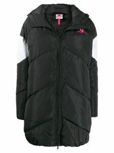 Kappa embroidered logo padded coat - Black