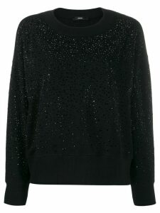 Diesel crystal embellished jumper - Black